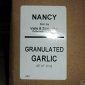 Nancy Brand - Garlic, Granulated, 30 Lb