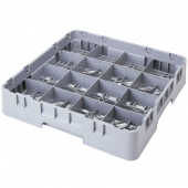 "Cambro - Camrack Glass Rack with 16 Compartments, Fits 7.75"" Tall Glass, Gray Plastic"
