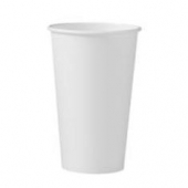Solo - Cup, 16 oz White Single Sided Poly Paper Hot Cup