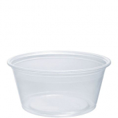 Dart - Container, 3.25 oz Clear Plastic Conex Complement Portion Container, 2.9x2.2x1.4