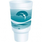 Dart - Foam Cup, Horizon Stock Print, with Carhold (Pedestal), 32 oz