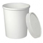 Solo - Food Container/Lid Combo, 32 oz, White Paper