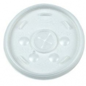 Dart - Lid, Straw Slot (Sorbet Lid) for 32 oz Foam Cups, Translucent Plastic