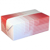 Food Box, Red Plaid, Fast Top Snack Size, 7x4.25x2.75