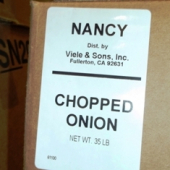 Nancy Brand - Onion, Chopped, 35 Lb