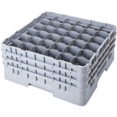 "Cambro - Camrack Glass Rack with 36 Compartments, Fits 6.125"" Tall Glass, Soft Gray Plastic"