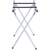 "Winco - Folding Tray Stand, 31"" Chrome Steel"