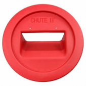 The Chute II Flatware Retriever, Fits 32 and 44 Gallon, Red Plastic
