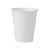 Solo - Cup, 8 oz White Single Sided Poly Paper Hot Cup