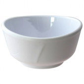Bowl with Wave Rim, 11 oz, 4.5x2.25 Classic White Melamine