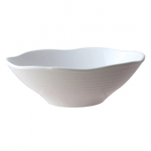 Soup Bowl with Wave Rim, 45 oz, 9x3 Classic White Melamine