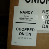 Nancy Brand - Onion, Chopped, 3 Lb