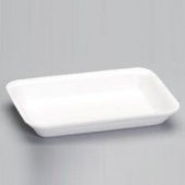 Meat Tray, 3PP Heavy Supermarket White Foam, 8.25x5.75x.88