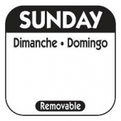 Label, Sunday, 1x1 Square