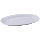 Winco - Platter with Narrow Rim, 11.5x8 Oval Melamine White