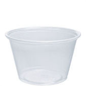 Dart - Container, 4 oz Clear Plastic Conex Complement Portion Container, 3x2x2