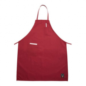 Winco - Bib Apron, Full-Length with Pockets, 33x26 Red