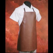HiLite - Apron, Heavy Duty Leather Look Vinyl with Knit Back, Brown, 26x28