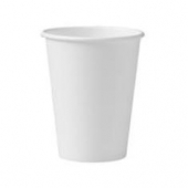 Solo - Cup, 12 oz White Single Sided Poly Paper Hot Cup