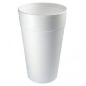 "Dart - Foam Cup, White, 44 oz, 7.5"" Height"