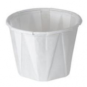 Solo - Cup, 1 oz White Paper Souffle Portion Cup