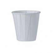 Solo - Cup, 3.5 oz White Paper Souffle Portion Cup