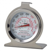 "Winco - Oven Thermometer, 40-500 degrees F, 2"" Dial with Hanging Hook and Standing Panel"