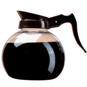 Wilbur Curtis - Coffee Decanter, Crystalline Glass with Brown Handle, Regular
