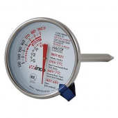 "Winco - Meat Thermometer, 130-190 degrees F, 2"" Dial and 5"" Probe Length"