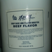 Nancy Brand - Beef Flavor and Soup Base, Powder, 45 Lb