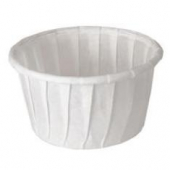 Solo - Cup, 1.25 oz White Paper Souffle Portion Cup