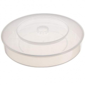 "Carlisle - Tortilla Server, 12"" Round Clear PP Plastic"