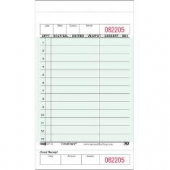 Guestcheck Board, Single Paper Green with Perforated Order Receipt Stub, 13 Lines
