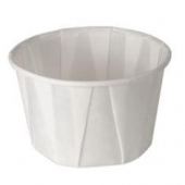 Solo - Cup, 2 oz White Paper Souffle Portion Cup