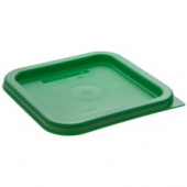 Cambro - CamSquares Food Storage Container Lid, Kelly Green Square Plastic, Fits 2/4 qt Containers