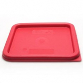 Cambro - CamSquares Food Storage Container Lid, Winter Rose Square Plastic, Fits 6/8 qt Containers