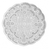 "Doily, 4"" White French Lace"