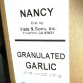 Nancy Brand - Garlic, Granulated, 4.5 Lb