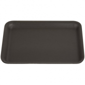 Genpak - Meat Tray, Black, #4S, 9.25x7.25x.5