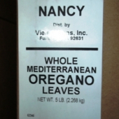 Nancy Brand - Oregano Leaves, Whole Greek/Mediterranean, 5 Lb