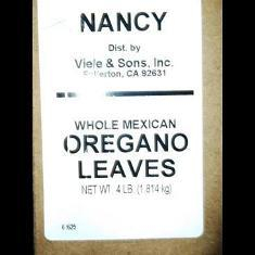 Nancy Brand - Oregano Leaves, Whole Mexican, 4 Lb | 4WMEOR | Viele