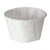 Solo - Cup, 3.25 oz White Paper Souffle Portion Cup