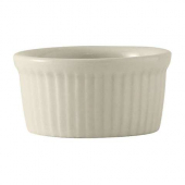Tuxton - TuxCare Fluted Ramekin, 2.5 oz White China