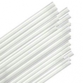 "Unwrapped Straw, 7.75"" Jumbo Clear"