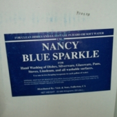 "Nancy Brand - Dish Soap, ""Blue Sparkle"" Powder, 50 Lb"