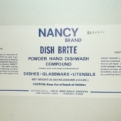 "Nancy Brand - Dish Soap, ""Dish Brite"" Powder, 50 Lb"