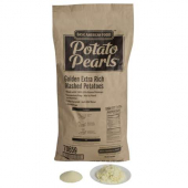 Basic American Foods - Potato Pearls, Golden Extra Rich Mashed Potatoes, Seasoned, 50 Lb