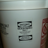 Antonio Brand - Seasoned Salt, 50 Lb