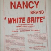 "Nancy Brand - Dish Soap, ""White Brite"" Powder, 50 Lb"