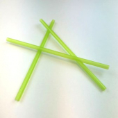"Unwrapped Straw, 7.75"" Giant Lime Green"